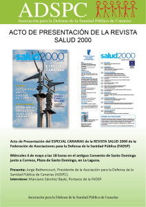 ACTO DE PRESENTACION REVISTA SALUD 2000